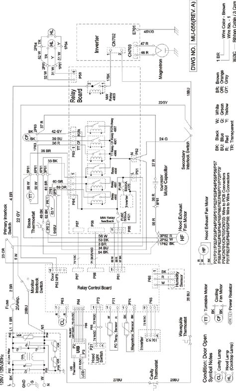 ghy microwave oven schematics  circuit