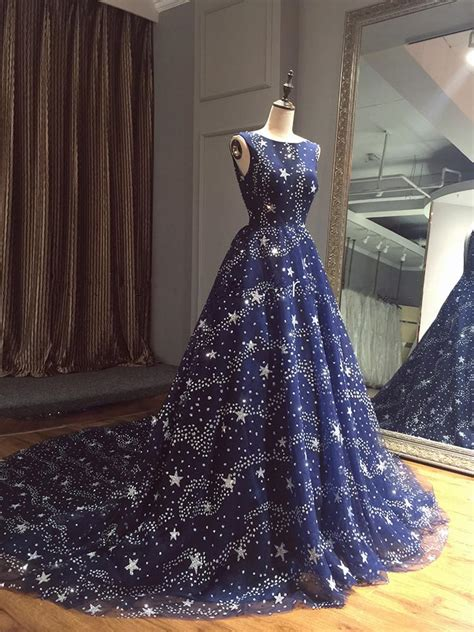 glitter star sequins beaded ball gowns prom evening