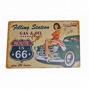 Plaque De Voiture : plaque vintage route 66 et voiture ancienne pancarte r tro ~ Medecine-chirurgie-esthetiques.com Avis de Voitures