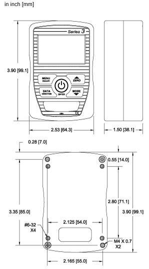 Force / torque indicator Series 3I