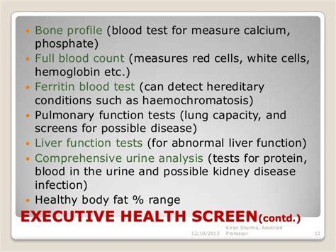 health screening services