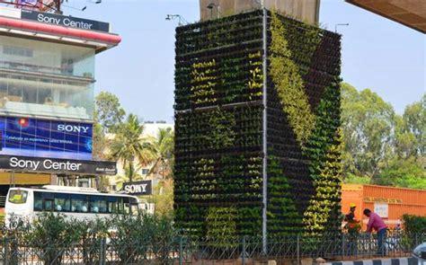 Vertical Garden In Bangalore by Bengaluru Gets India S Vertical Garden Education