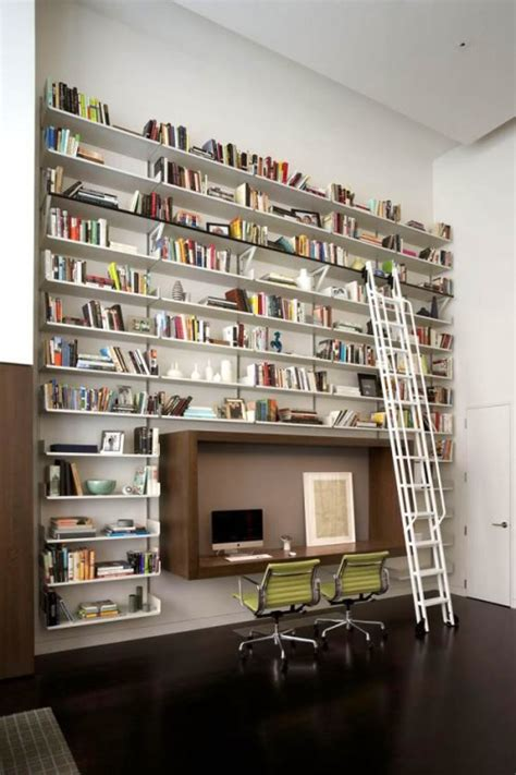 creative home library designs