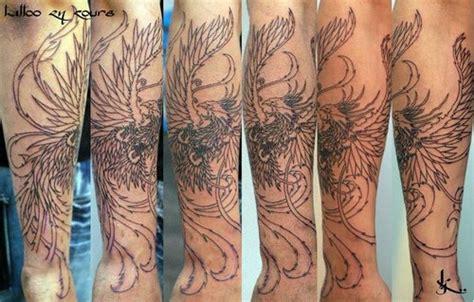 tatouage phoenix bras homme chaton chien  donner