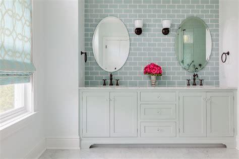 Pottery Barn Glass Bathroom Accessories by Beach House Master Bath Beach Style Bathroom New