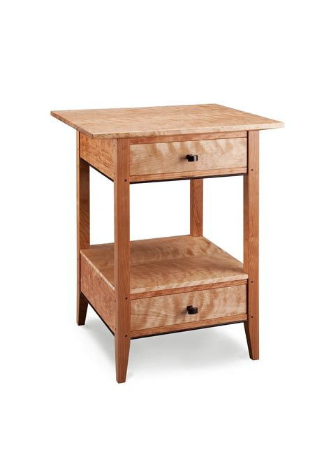 side table with two drawers two drawer end table by tom dumke wood side table