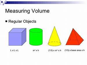 Measurements area and volume  Volume