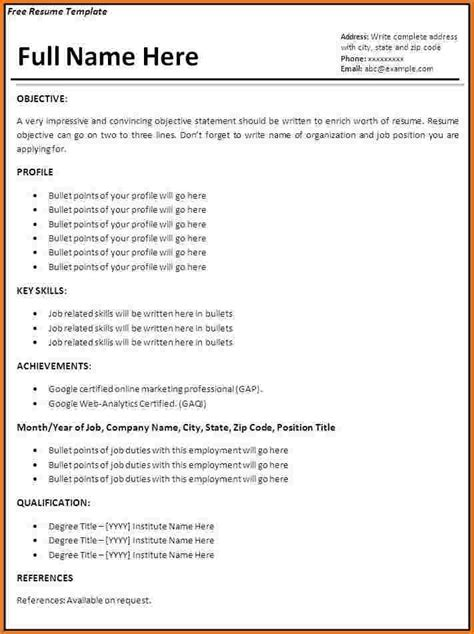 Exle Of Simple Resume Letter by How To Make A Simple Resume Simple Resume