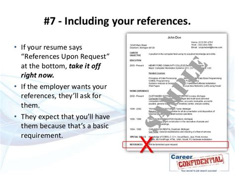 Avoid I In Resume by 10 Deadly Resume Mistakes To Avoid At All Costs