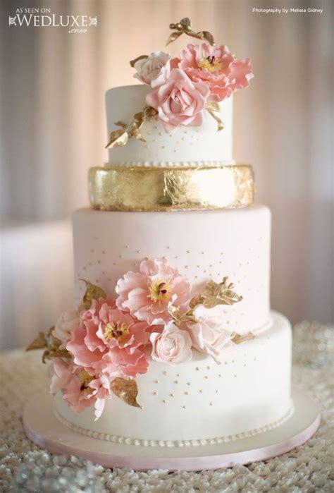 boda de oro wedluxe rosa y oro de la torta 2040068