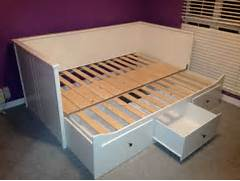 New IKEA Hemnes Daybed Frame With Trundle And 3 Large Drawers White Ikea Hemnes Day Bed Frame With 2 Mattresses For Sale In Dublin 8 IKEA HEMNES Bed Frame Standard King White New Mattress Top Ikea Queen Headboard On Hemnes Bed Frame Queen Ikea Ikea Queen