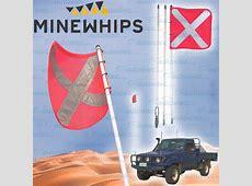 MINE WHIP 3 PIECE 25 METRE HIGH VIS SAFETY SAND DUNE