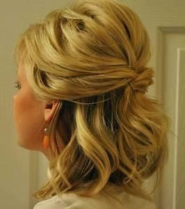 Coiffure Pour Cheveux Mi Longs : coiffure chignon mariage cheveux mi long ~ Melissatoandfro.com Idées de Décoration