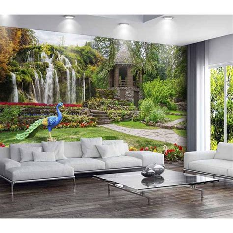 custom  photo wallpapers  living room tv background