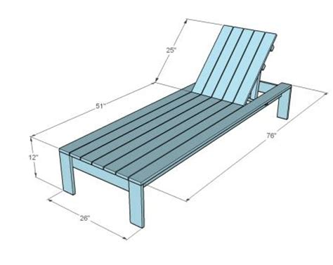 deck chair size ana white build a single lounger for the simple modern