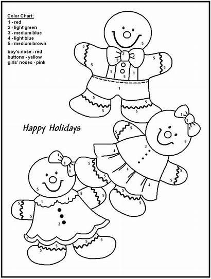 Number Coloring Kindergarten Christmas Numbers Pages Printable