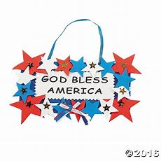 God Bless America Sign Craft Kit  Fourth Of July Crafts
