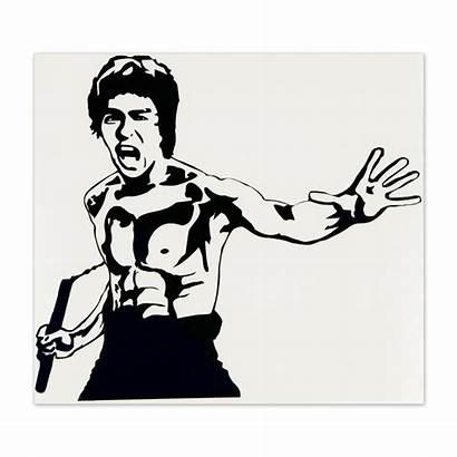Bruce Lee Vector Sticker Stencils Stencil Brucelee