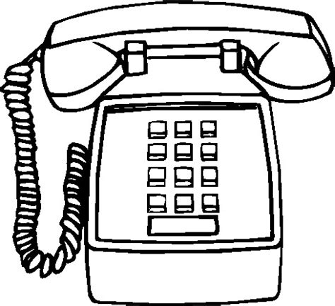 telephone clipart black and white clip clip telephone 533551