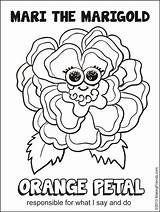 Orange Petal Say Responsible Coloring Scout Daisy Makingfriends Sheet Flower Daisies Friends Colouring Scouts Petals Mari Momma Being sketch template