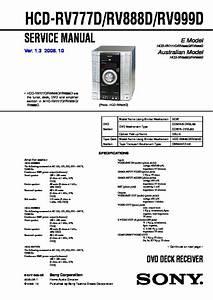 Sony Mhc-rv7  Mhc-rv8  Ss-rsv8  Ss-rv7rs  Ss-rv8  Ss-rv8rs Service Manual