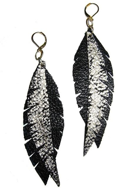 leather earrings leather jewelry leather