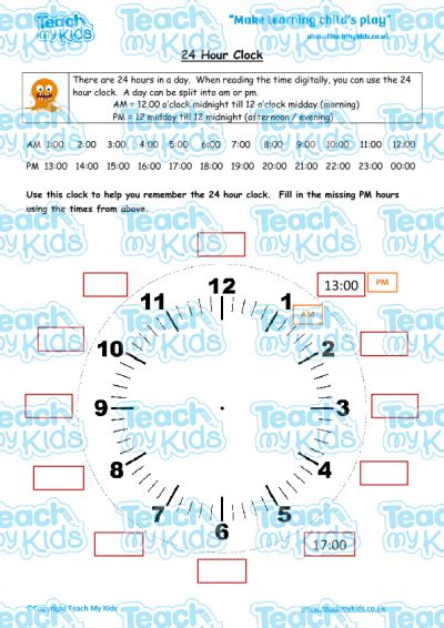24 hour clock teach my kids