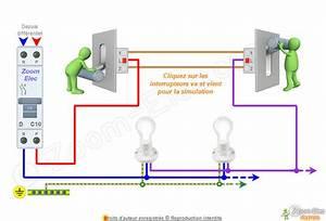 Un Va Et Vient : schma va et vient schema lectrique interactif dun va et vient ~ Dailycaller-alerts.com Idées de Décoration