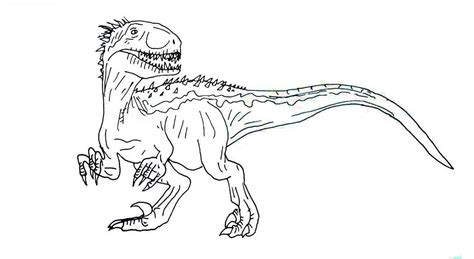Coloring Jurassic World by Jurassic World Coloring Pages Indoraptor Pdf Free