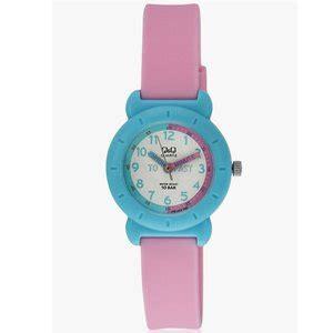 jual jam tangan anak perempuan q q vp81j019y warna biru tali karet pink di lapak halo jkt case