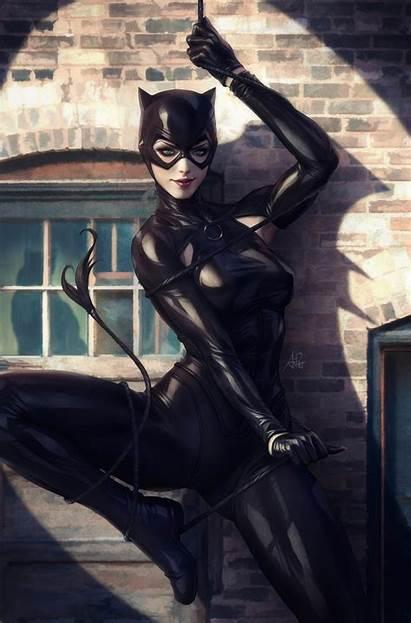 Catwoman Dc Mask Comics Portrait Display Wallhere