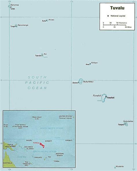 Carte de Tuvalu.