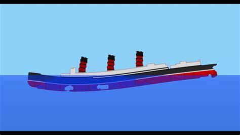sinking simulator rms lusitania 1904 design youtube