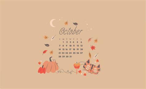 october  desktop calendar wallpapers calendar