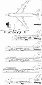 Diagram Of Boeing 747 Variants