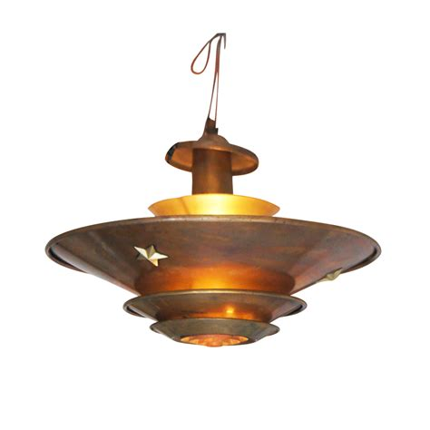 Vintage Art Deco Copper Ceiling Lamp Ebay
