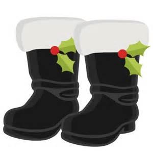 Christmas Santa Boot Clip Art