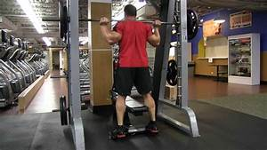 Smith Machine Elevated Calf Raise