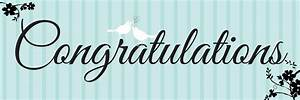 congratulations wedding banner With congratulations sign template
