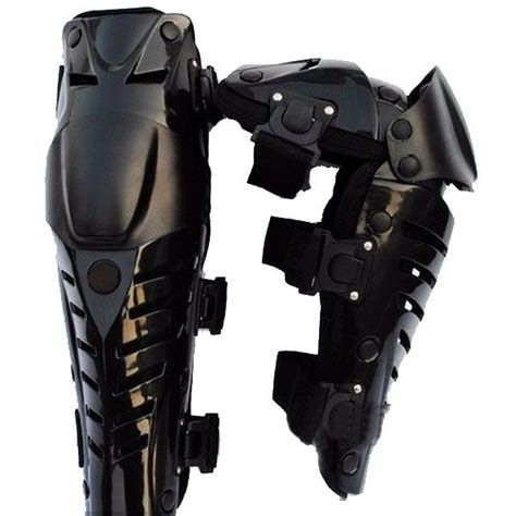 pair of leather motor racing protective knee pads black projects to try