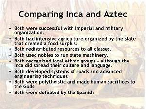 Aztec Inca Comparison