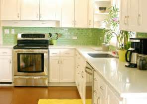 Green Backsplash Kitchen Green Glass Tiles For Kitchen Backsplashes Kitchentoday
