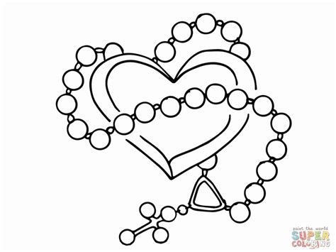 Rosary Coloring Page - Costumepartyrun