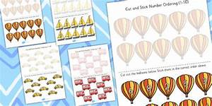 Transport Themed Cut And Stick Number Ordering Activity