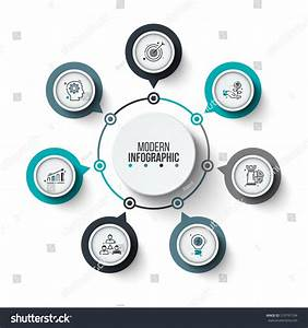 Vector Circle Infographic Template Cycle Diagram Stock Vector 519797104