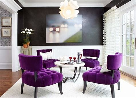 interior decor bright pink purple chairs for living room