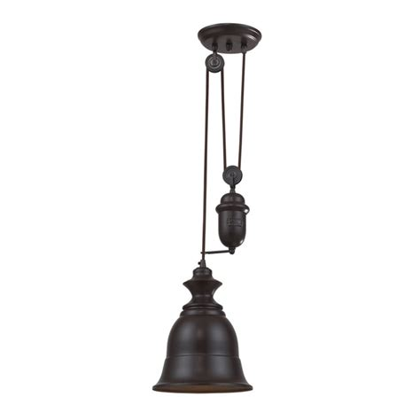 Farmhouse Pulley Minipendant Light With Bell Shade