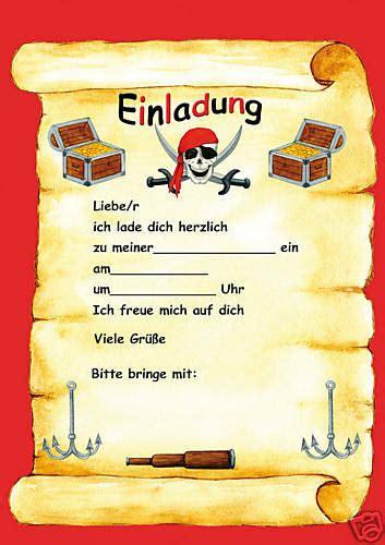 piraten kindergeburtstag einladungen piratenparty ebay