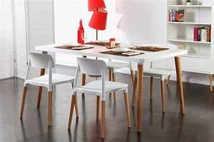 Table et chaise a manger pas cher mobilier sur for Meuble salle À manger avec chaise bois et blanc