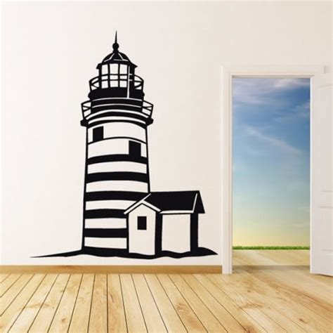 large lighthouse home decor wall stickers lighthouse wall decal mediterranean style home decor